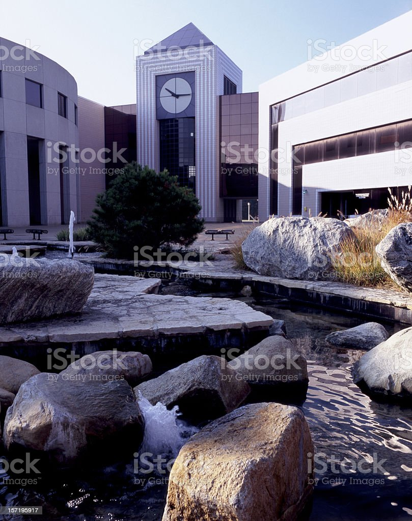 Clock Tower at Western Michigan University stock photo