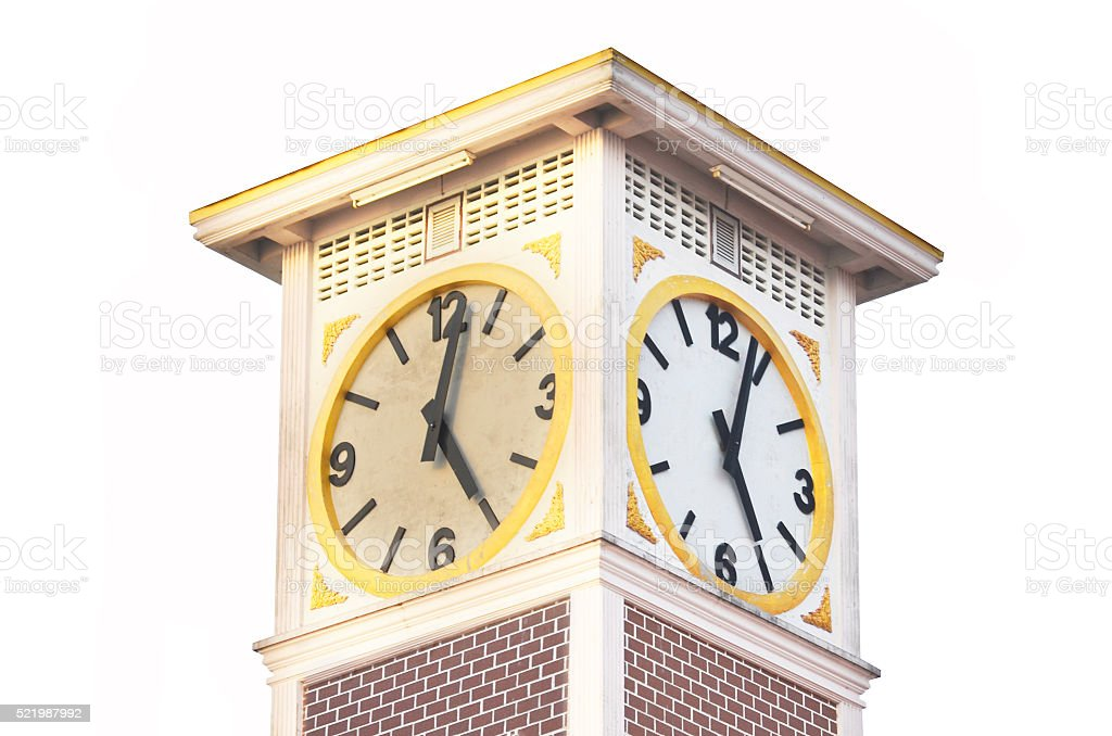 Clock tower backgrounds stock photo
