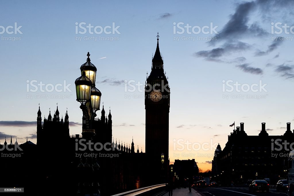 Clock tower Big Ben, London stock photo