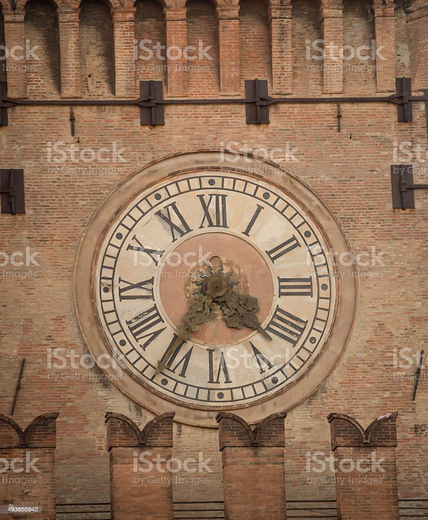 clock tower bologna stock photo