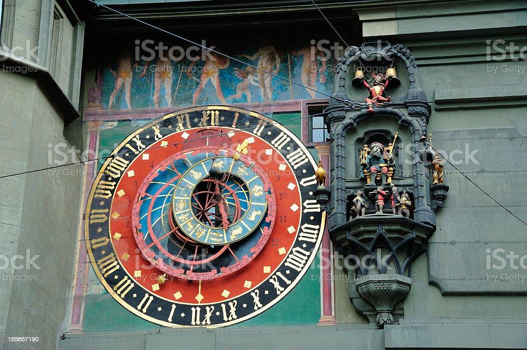 Clock Tower detail in Bern stock photo