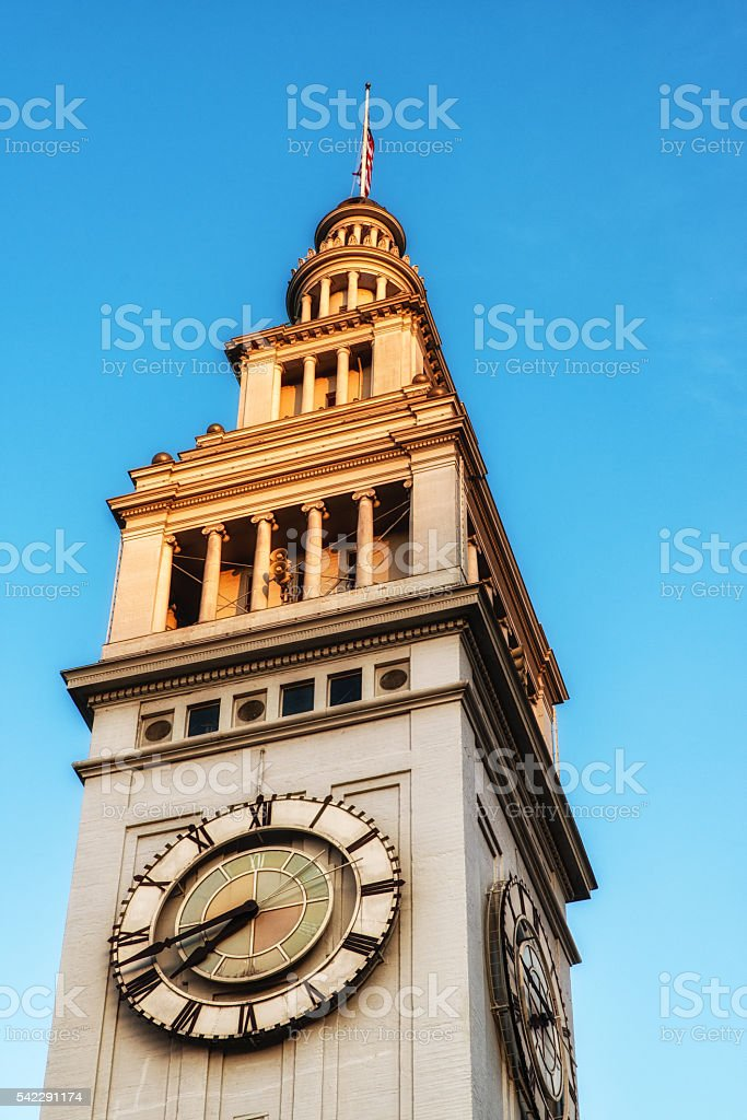 Clock Tower, Ferry Building, San Francisco stock photo