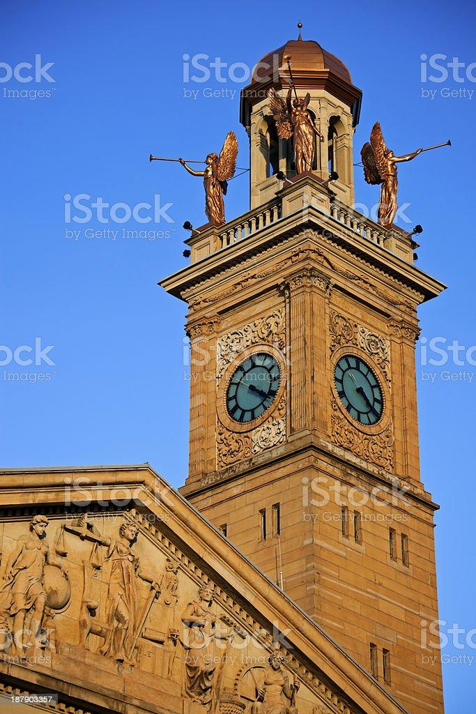 Clock Tower in Canton, Ohio stock photo