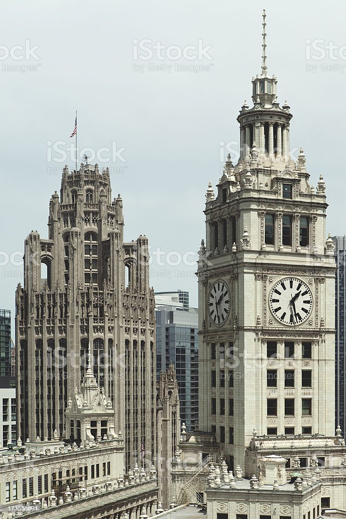 Clock Tower in Chicago royalty-free stock photo