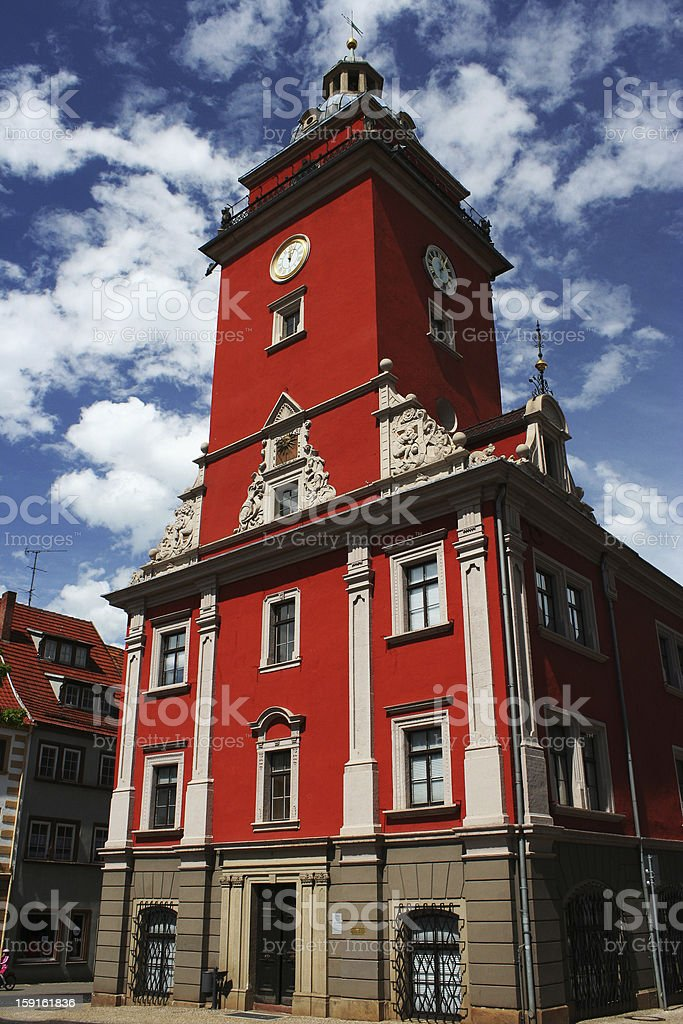 Clock tower in Gotha, Germany royalty-free stock photo