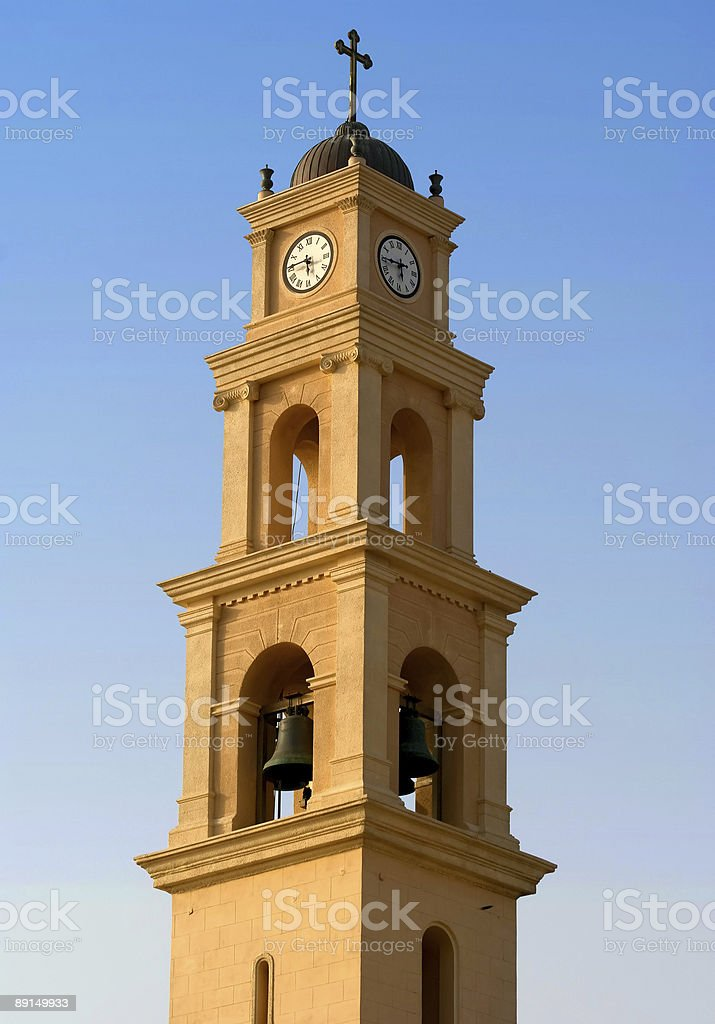 Clock tower in Jaffa royalty-free stock photo