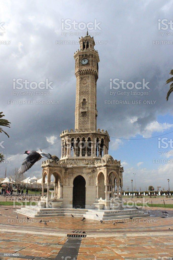 Clock Tower in Konak squere stock photo