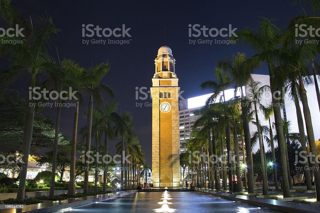 Clock Tower in Kowloon, Hong Kong royalty-free stock photo