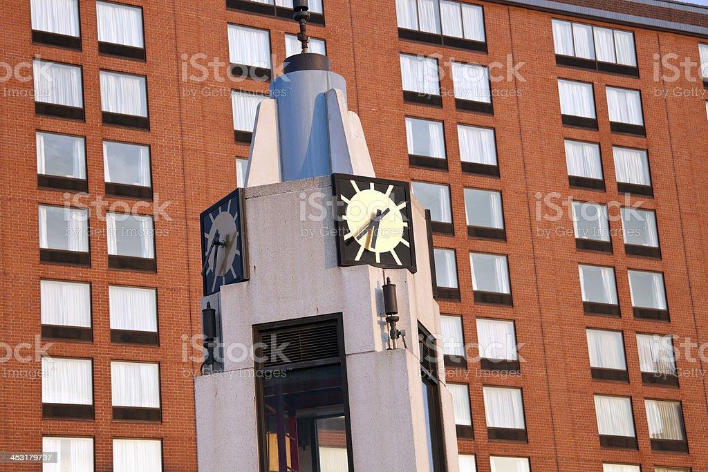 Clock tower in Lansing stock photo