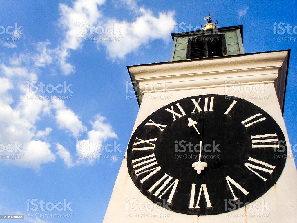 Clock tower in Novi Sad stock photo