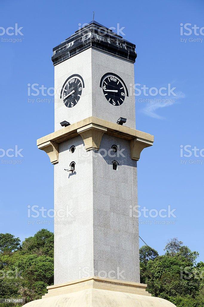 Clock Tower in Pattaya royalty-free stock photo