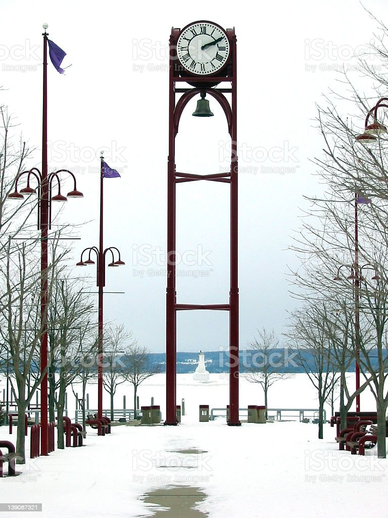 Clock tower in Petoskey royalty-free stock photo