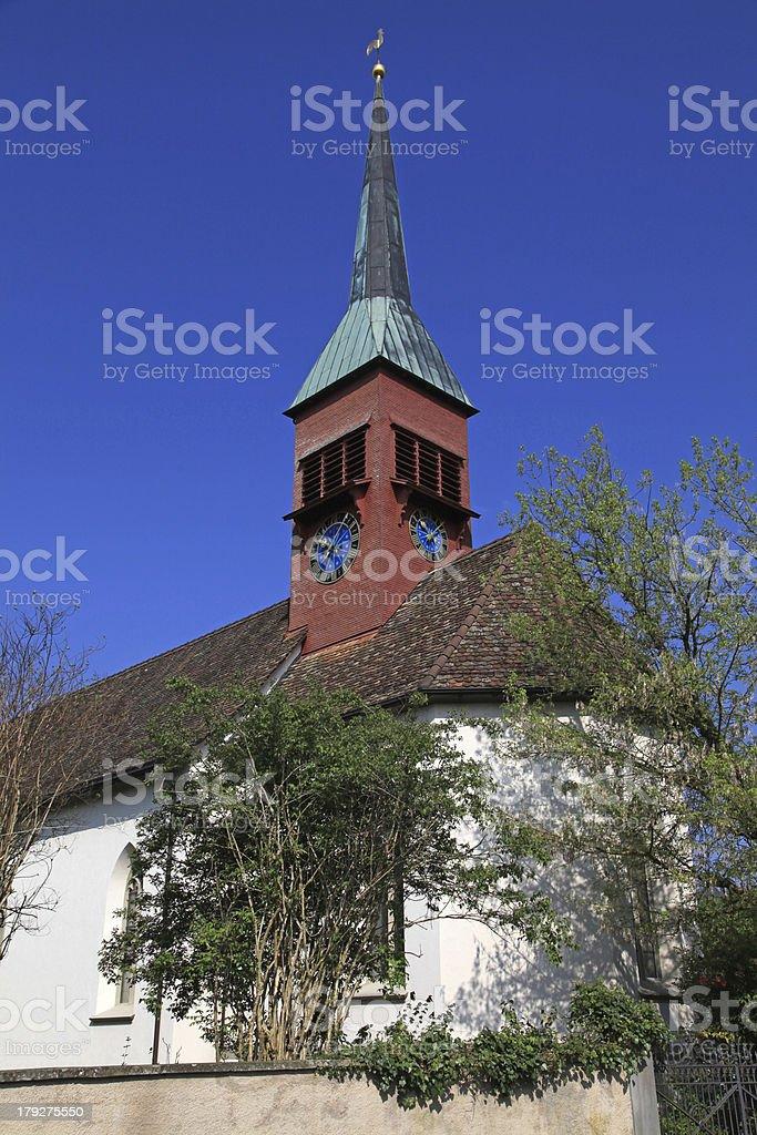 Clock tower in Schaffhausen, Switzerland royalty-free stock photo