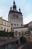 Clock Tower (Turnul cu ceas) in Sighisoara, Transylvania, Romania