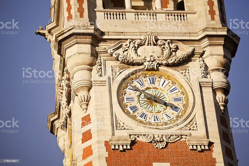 Clock Tower Lille France stock photo