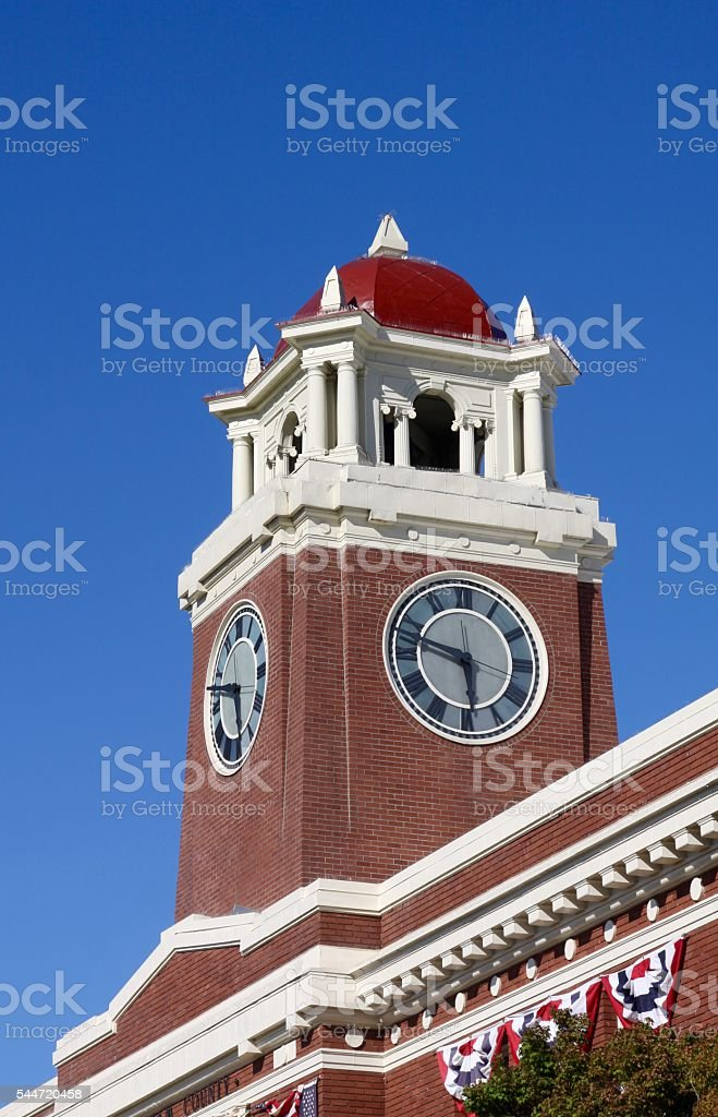Clock Tower Of County Courthouse stock photo