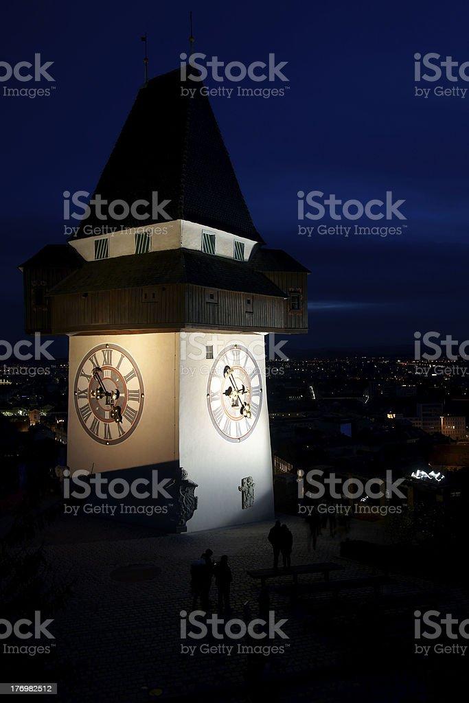 Clock Tower of Graz royalty-free stock photo