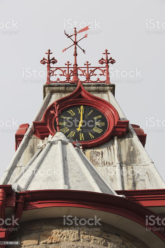 clock tower of Marazion's town hall royalty-free stock photo