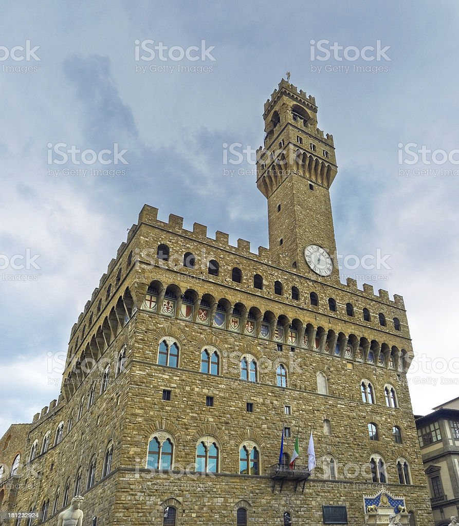 Clock Tower of the old Palace, Florence royalty-free stock photo
