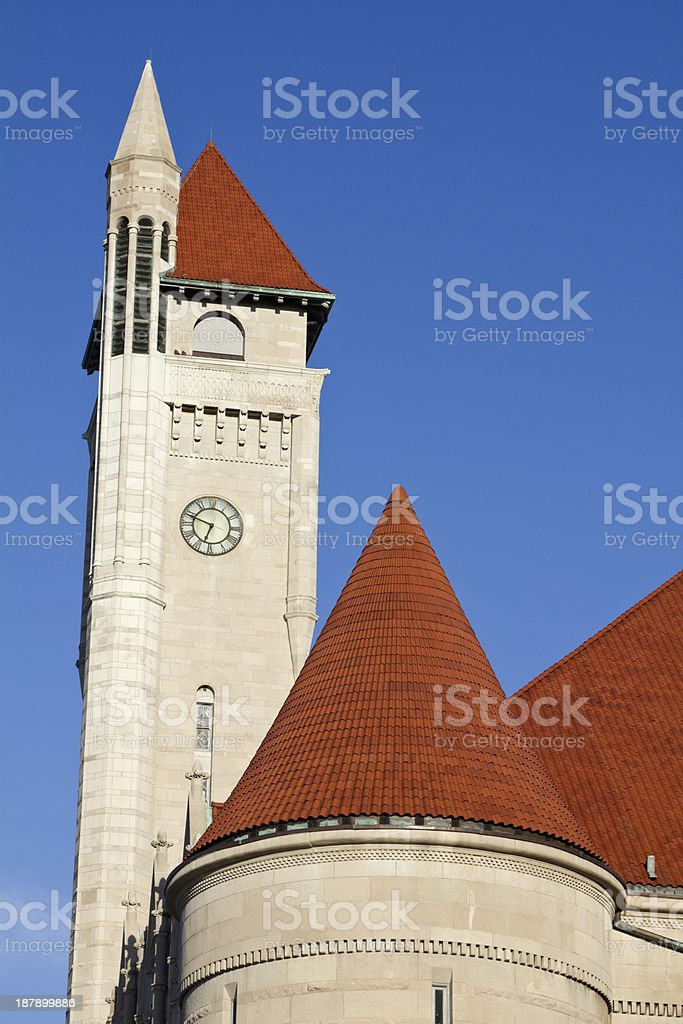 Clock Tower of Union Station stock photo