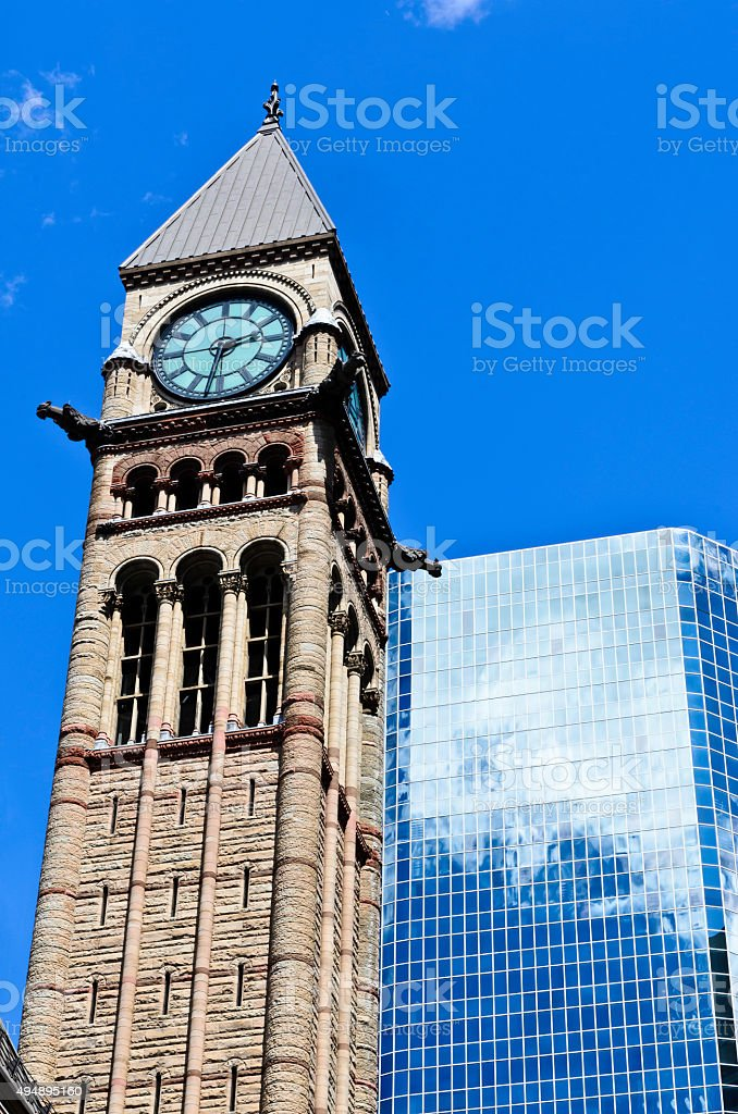 Clock tower Old City Hall Toronto royalty-free stock photo