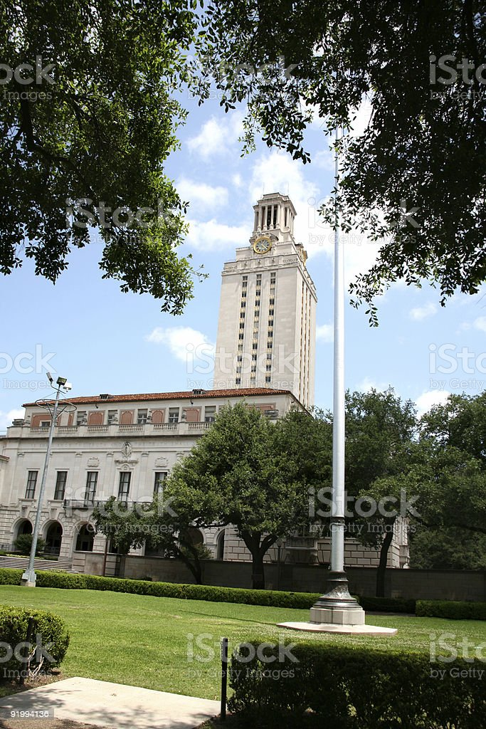Clock Tower on University of Texas campus in Austin. USA. royalty-free stock photo