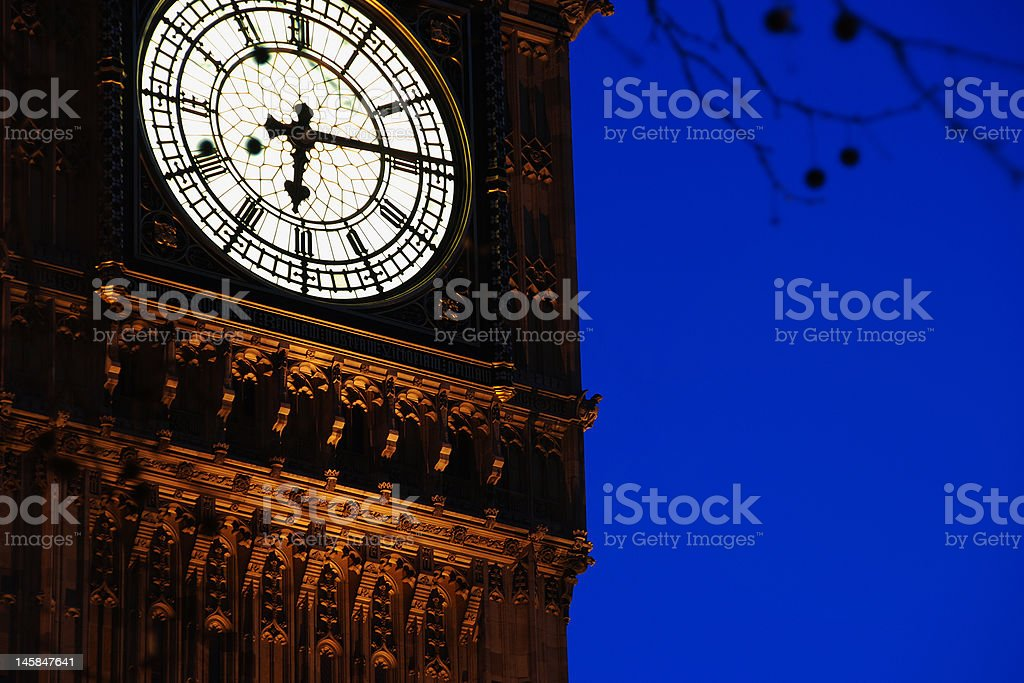Clock Tower, Palace of Westminster royalty-free stock photo