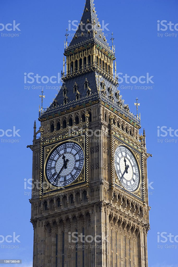 Clock Tower, Parliament royalty-free stock photo