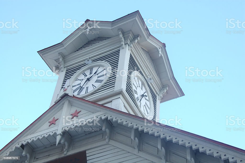 Clock tower stock photo