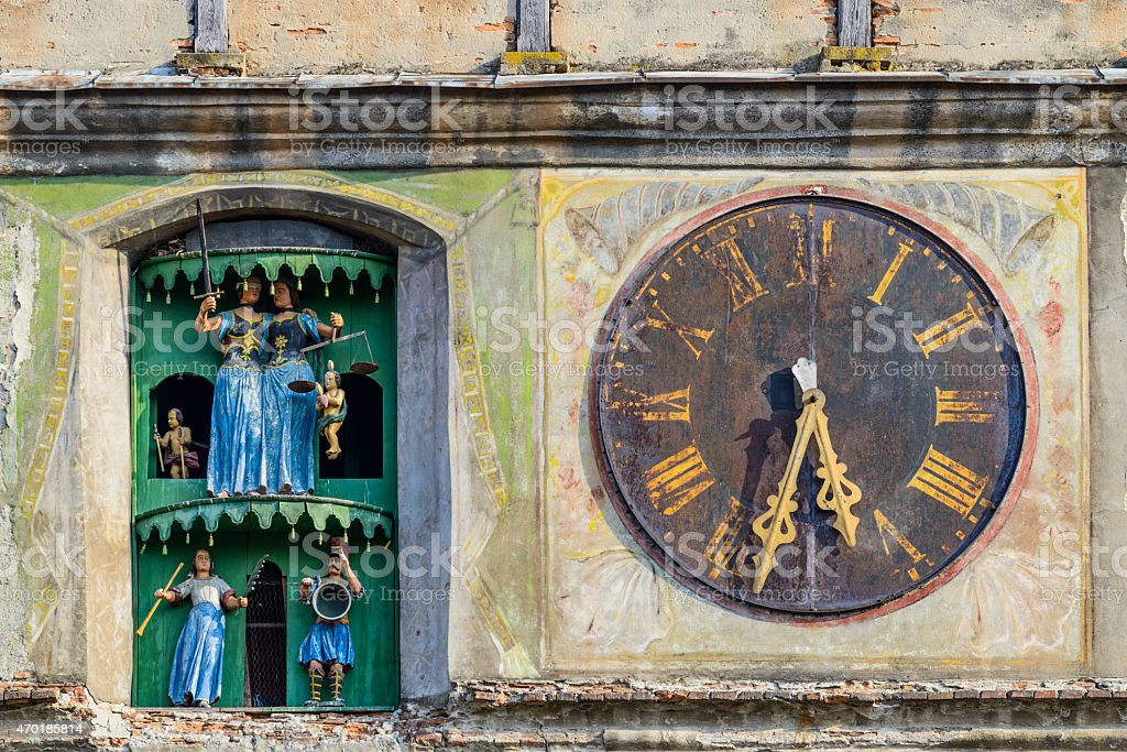 Clock tower Sighisoara, stock photo