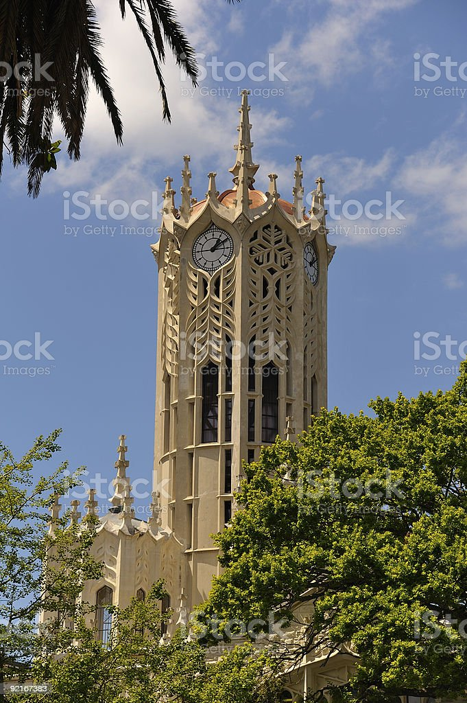 Clock Tower, University of Auckland royalty-free stock photo