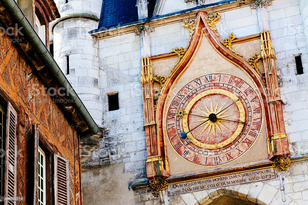 Clock Tower,Auxerre, France stock photo