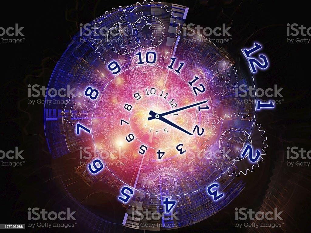 Clock universe stock photo