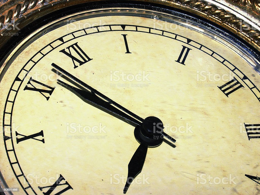 Clock very old in colour royalty-free stock photo