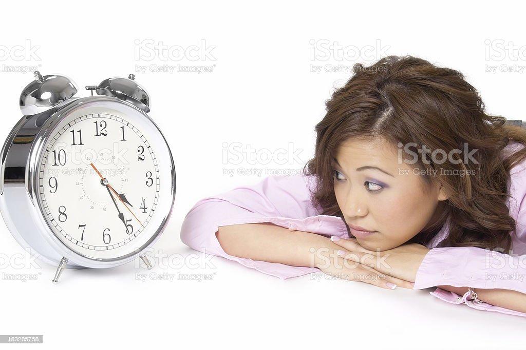 Clock Watcher stock photo