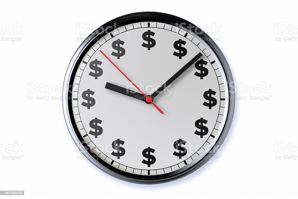 Clock With Clipping Path royalty-free stock photo
