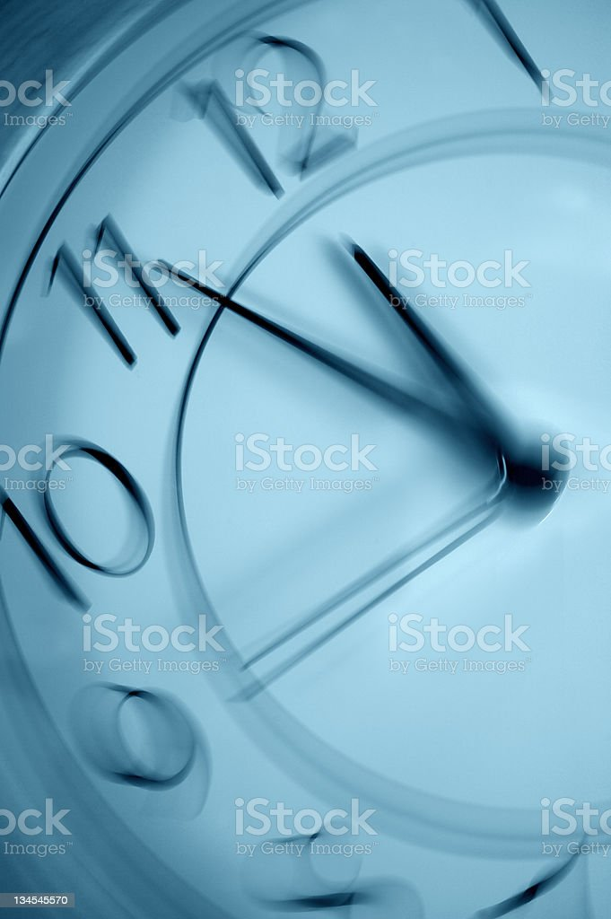Clock with motion royalty-free stock photo