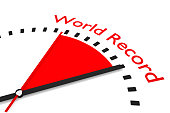 clock with red seconds hand area world record
