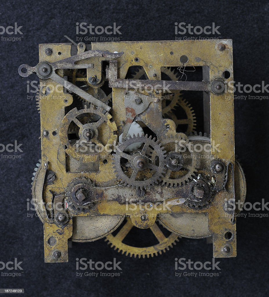 Clock works royalty-free stock photo