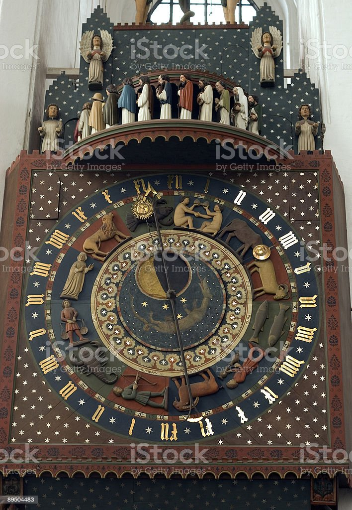 Clock_astrology-7 royalty-free stock photo
