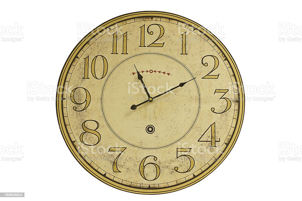 clock-face  from an age-old clock royalty-free stock photo