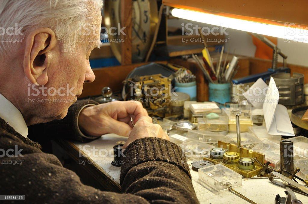 Clockmaker stock photo