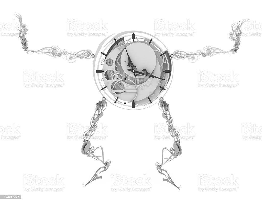 Clockman, Arms Spread stock photo