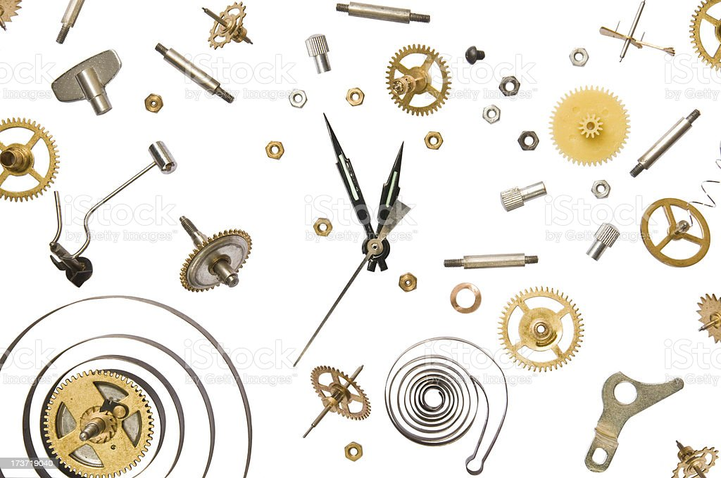 clockparts stock photo