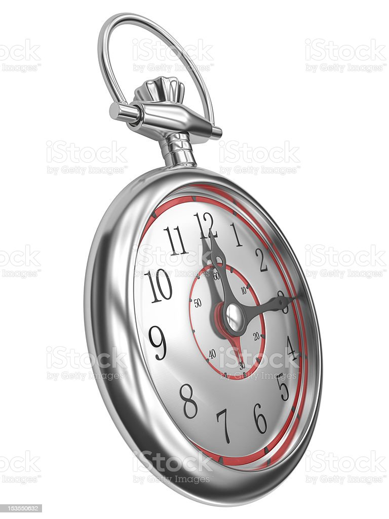 Clocks 15 minutes stock photo