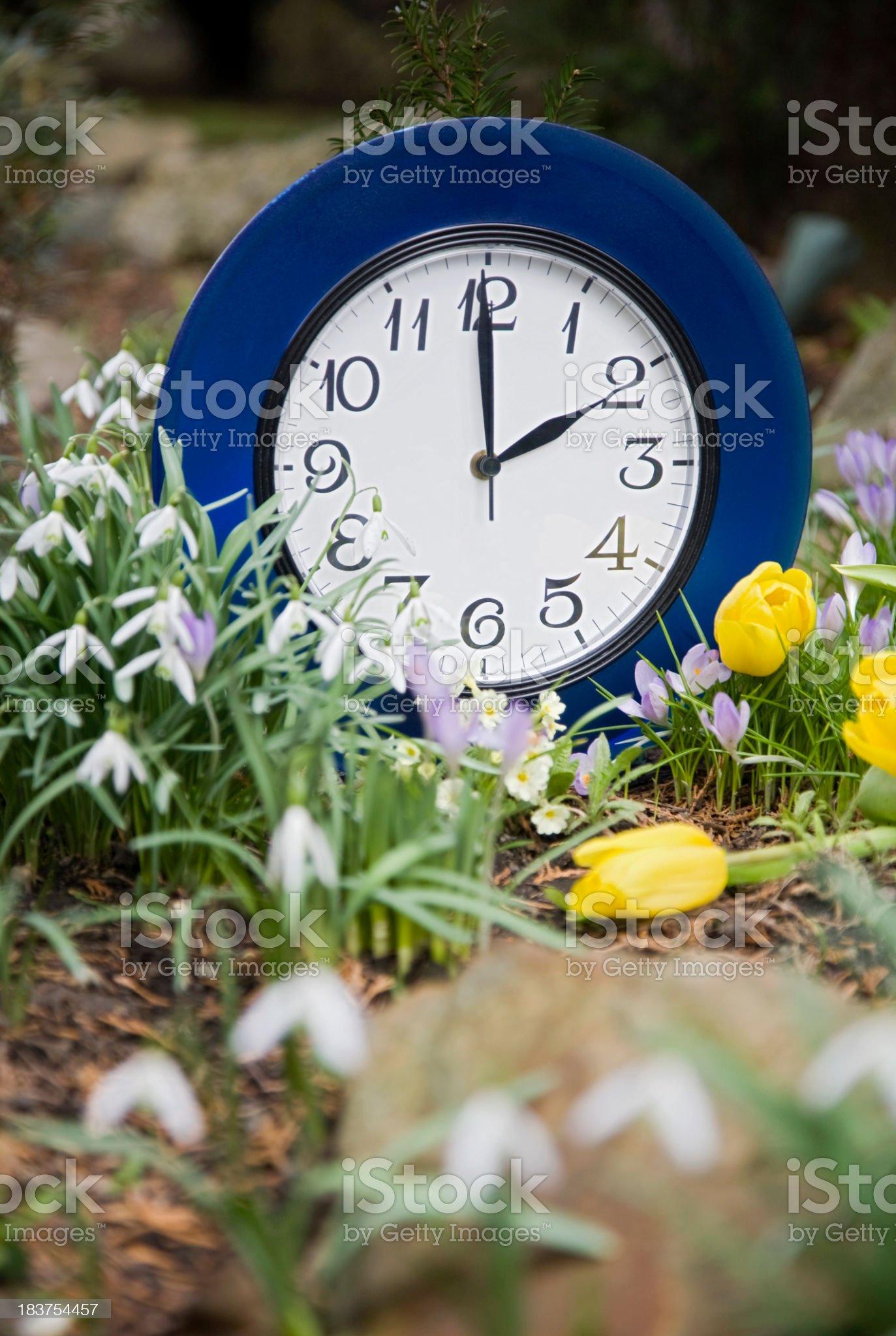 Clocks change royalty-free stock photo