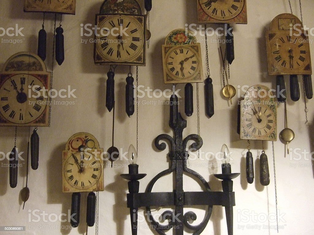 Clocks from black forest stock photo