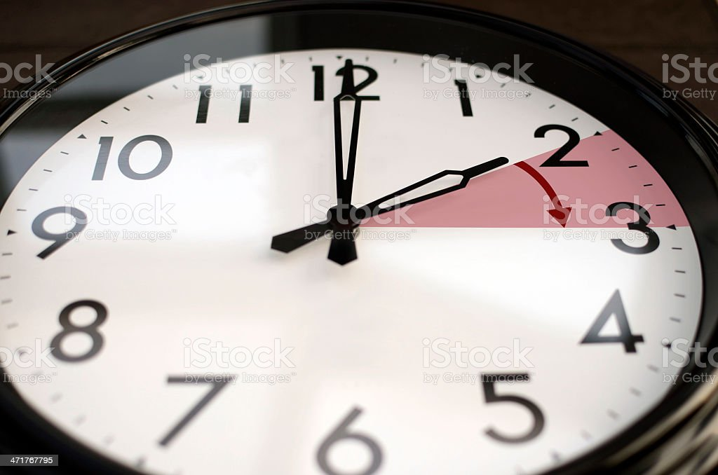 Clocks go forward stock photo