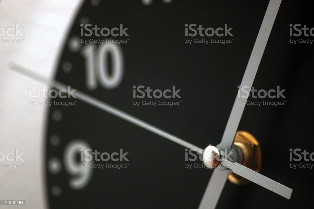 Clock's hands royalty-free stock photo