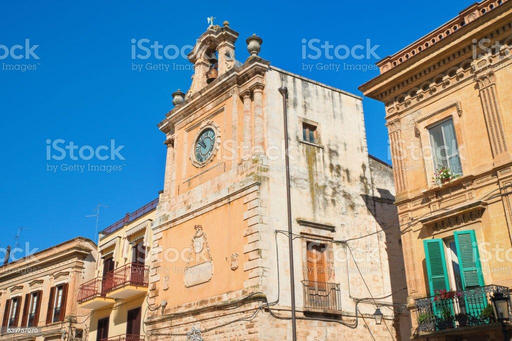 Clocktower. Acquaviva delle fonti. Puglia. Italy. stock photo